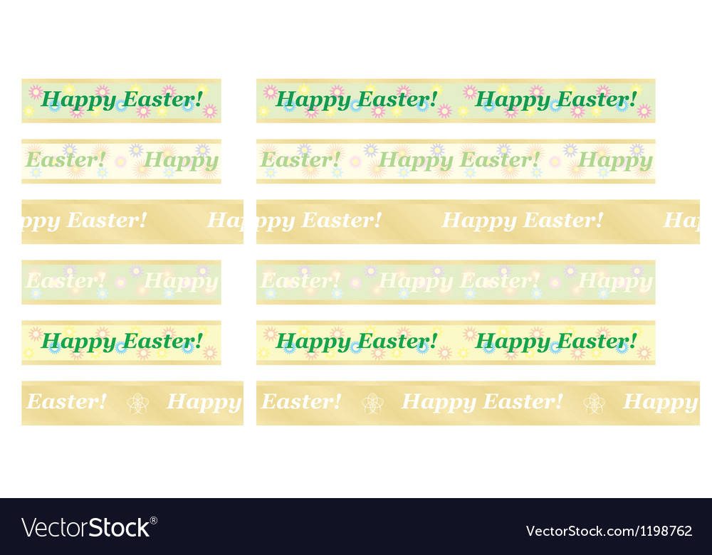 Seamless happy easter ribbons vector | Price: 1 Credit (USD $1)