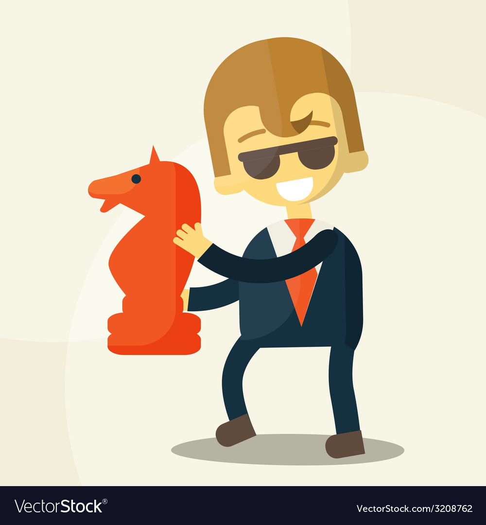 Smiling businessman and a great development vector | Price: 1 Credit (USD $1)
