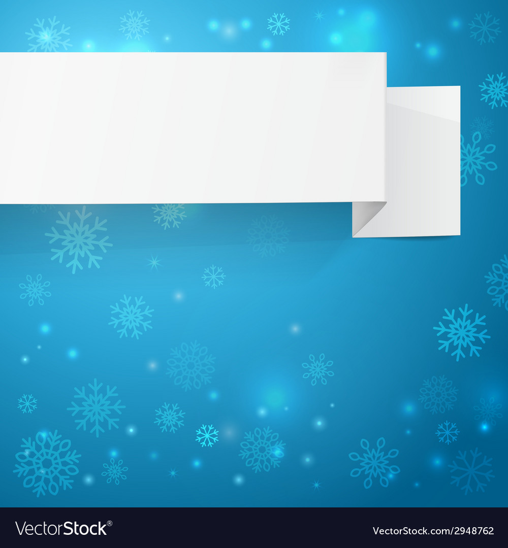 White sheets of paper on a christmas background vector | Price: 1 Credit (USD $1)