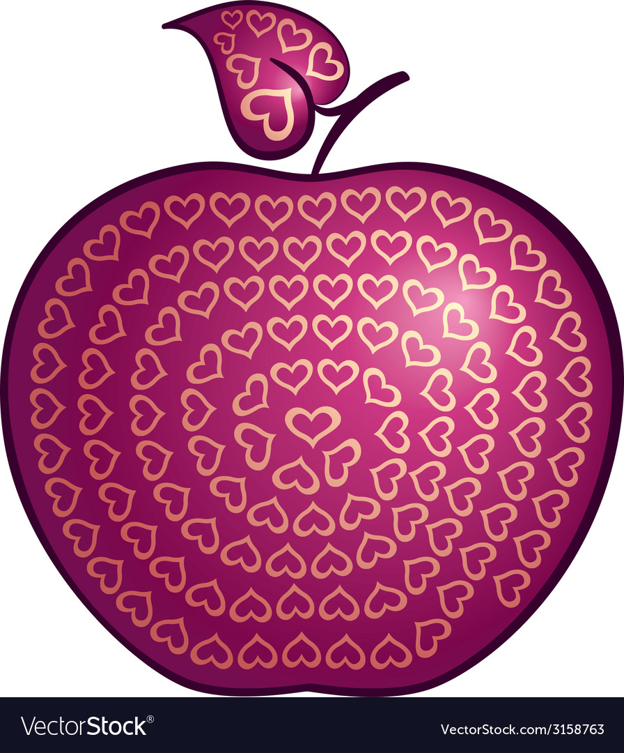 Apple of love vector | Price: 1 Credit (USD $1)