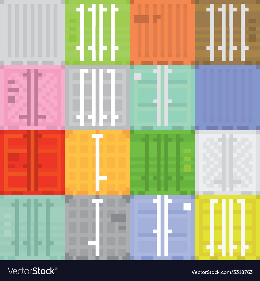 Cargo container vector | Price: 1 Credit (USD $1)