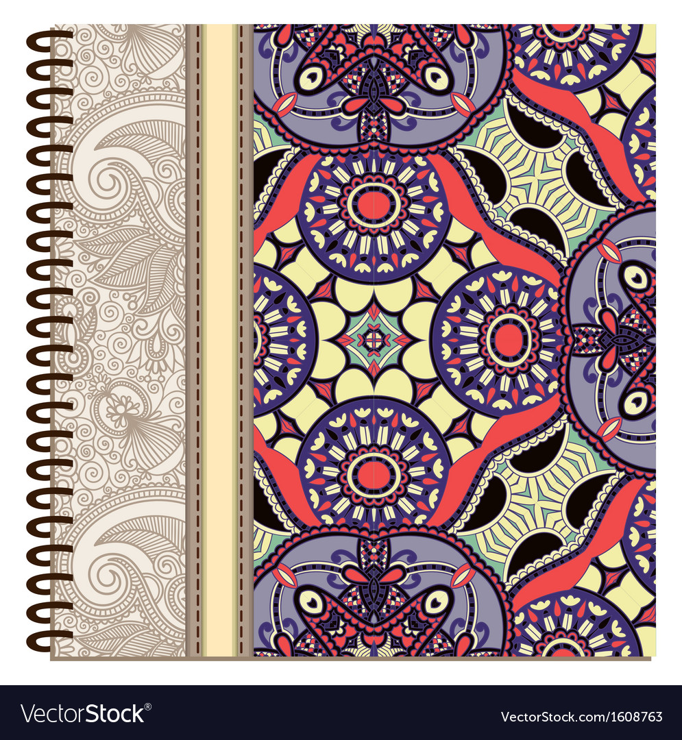 Design of spiral ornamental notebook cover vector   Price: 1 Credit (USD $1)