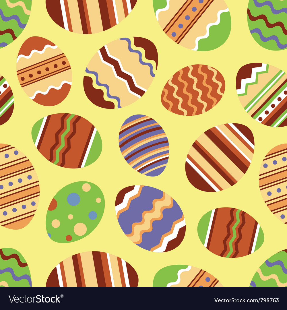 Easter eggs seamless background vector   Price: 1 Credit (USD $1)