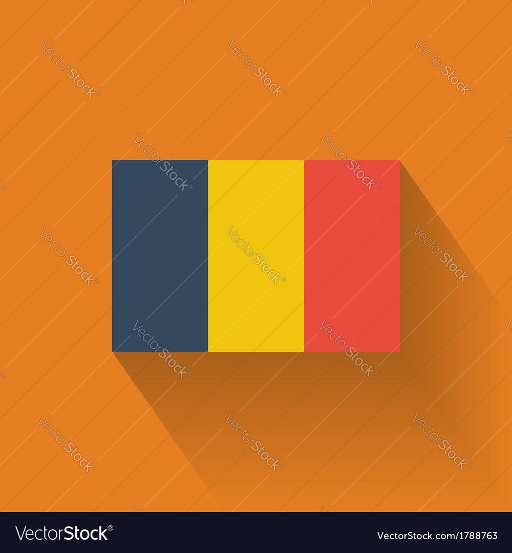 Flat flag of romania vector | Price: 1 Credit (USD $1)