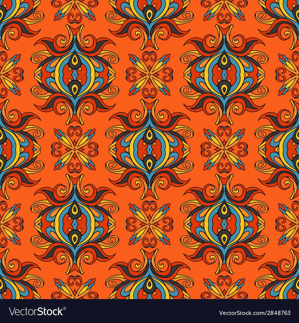 Orange floral festive pattern vector | Price: 1 Credit (USD $1)