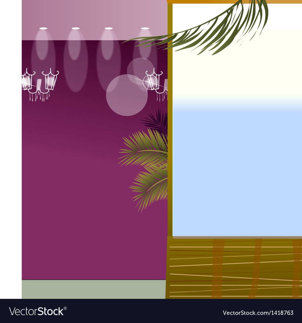 Spot light and window vector | Price: 1 Credit (USD $1)