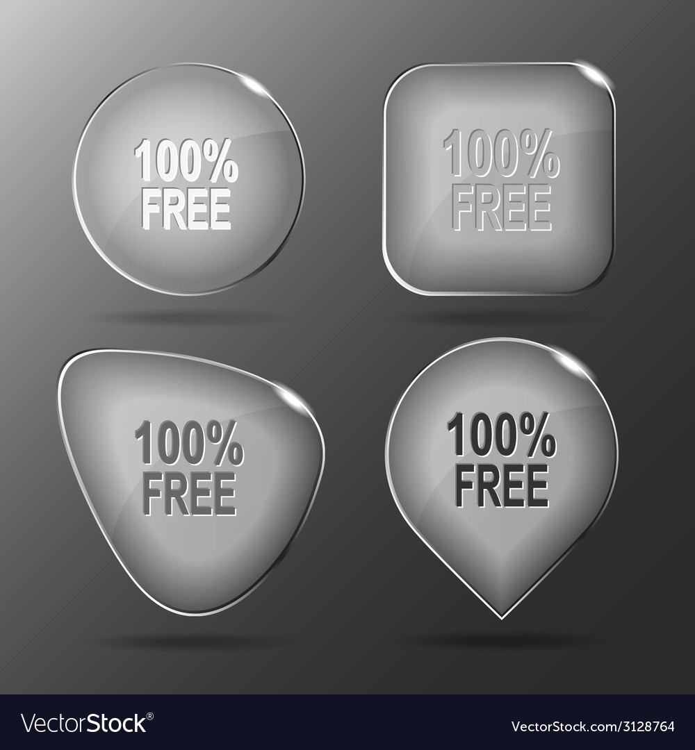 100 free glass buttons vector | Price: 1 Credit (USD $1)