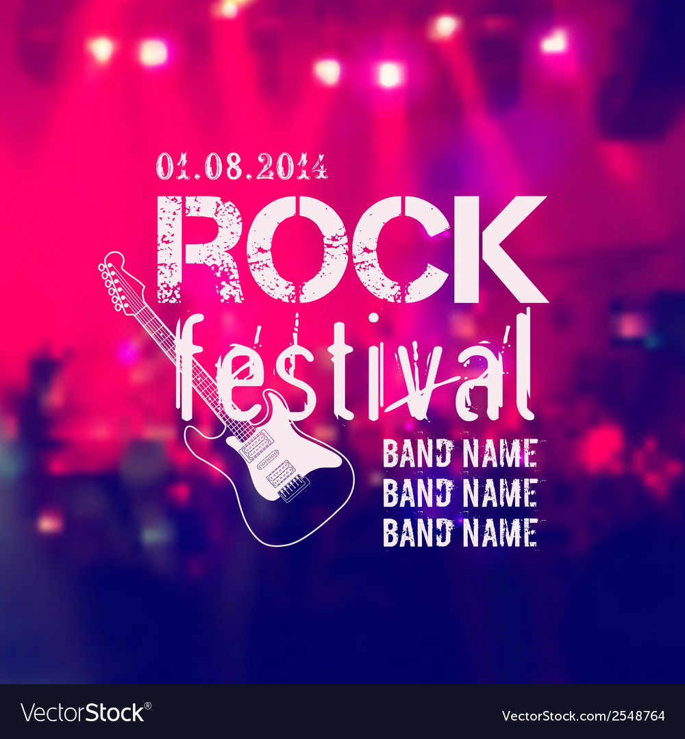 Blurred background with rock stage and crowd rock vector | Price: 1 Credit (USD $1)