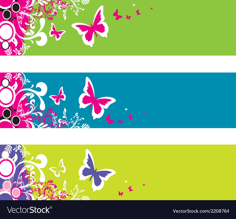 Butterfly fantasy banner vector | Price: 1 Credit (USD $1)