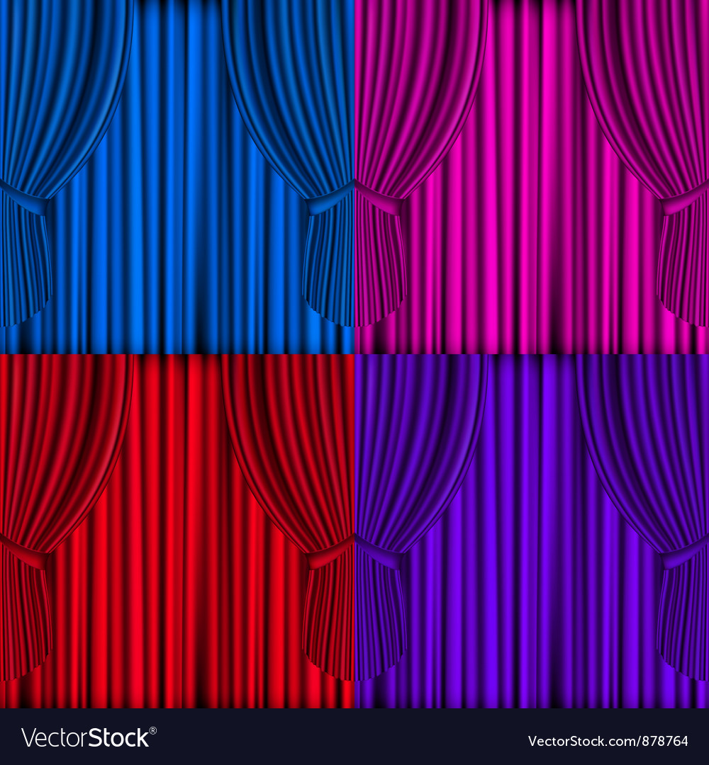 Colored curtains background vector | Price: 1 Credit (USD $1)
