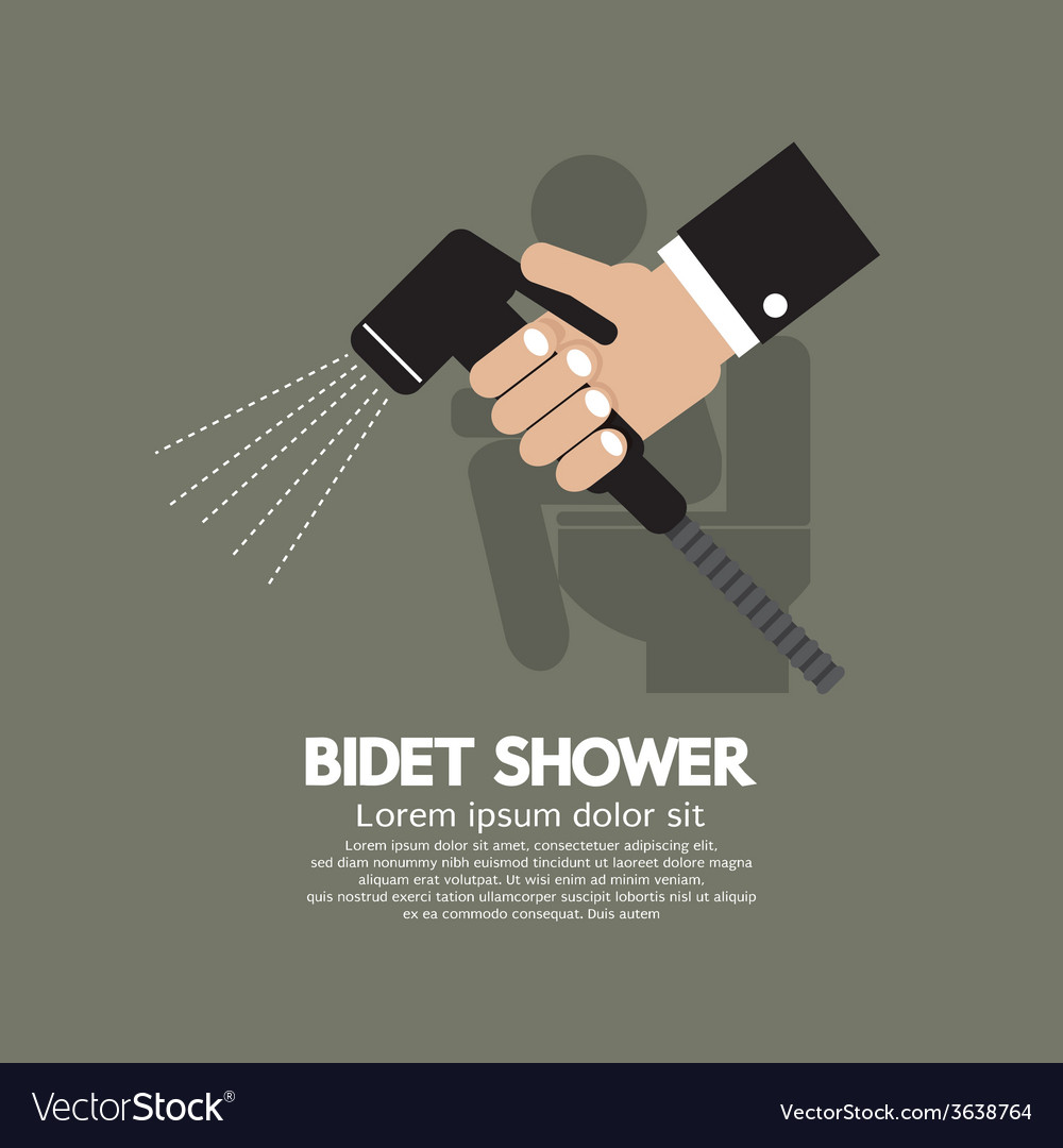 Hand using a bidet shower vector | Price: 1 Credit (USD $1)