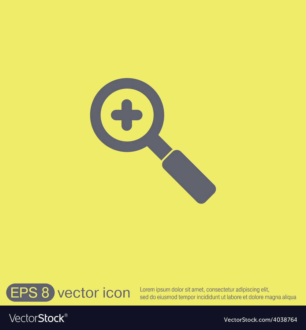 Magnifier increase vector | Price: 1 Credit (USD $1)