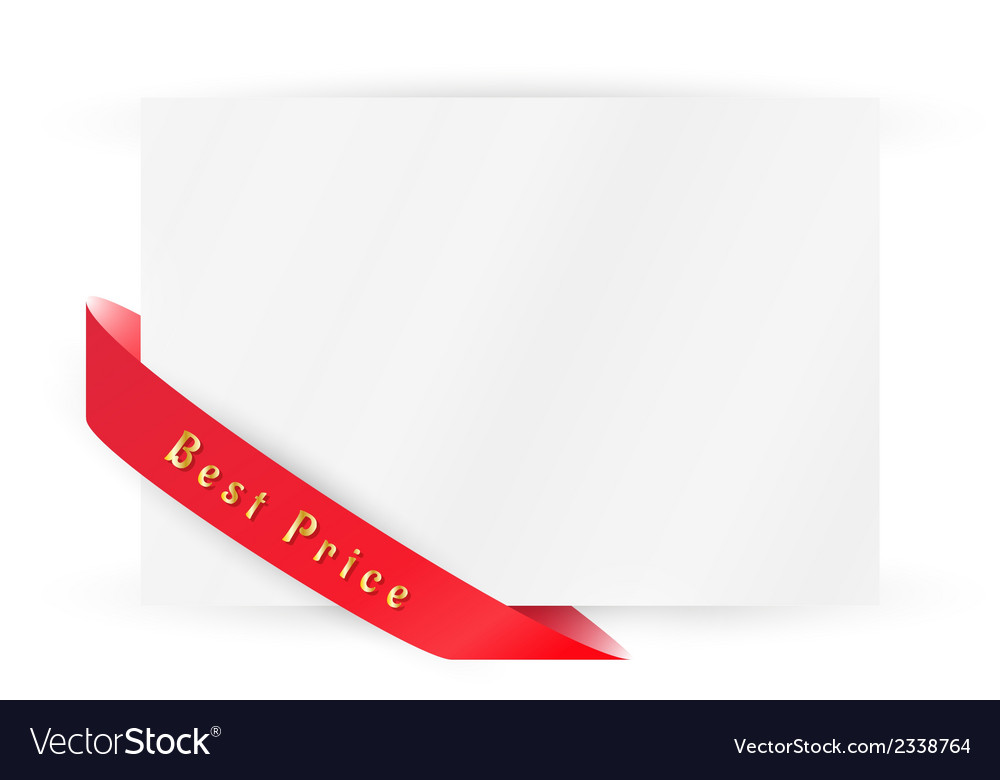 Ribbon with best buy vector | Price: 1 Credit (USD $1)