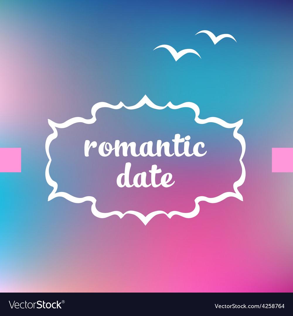 Romantic date vector | Price: 1 Credit (USD $1)