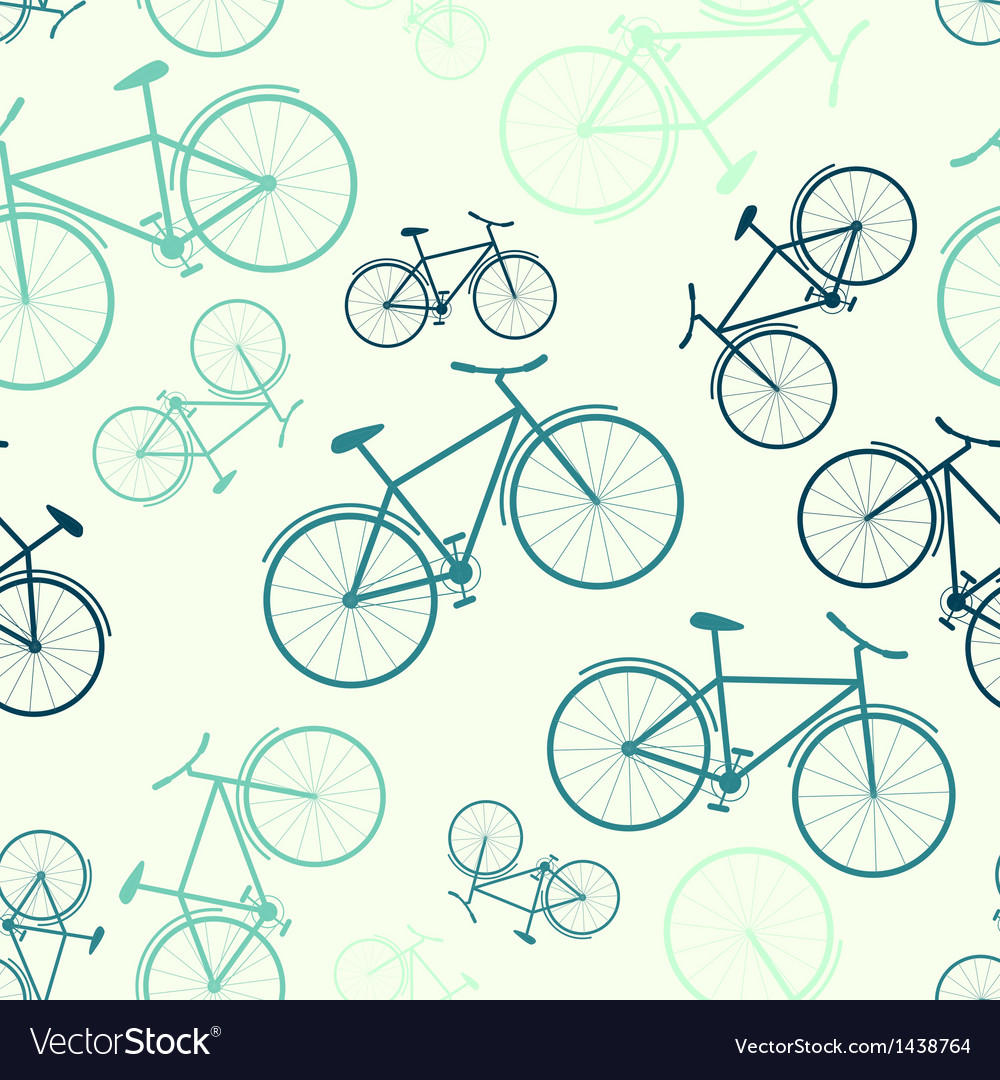 Seamless bicycle pattern vector | Price: 1 Credit (USD $1)