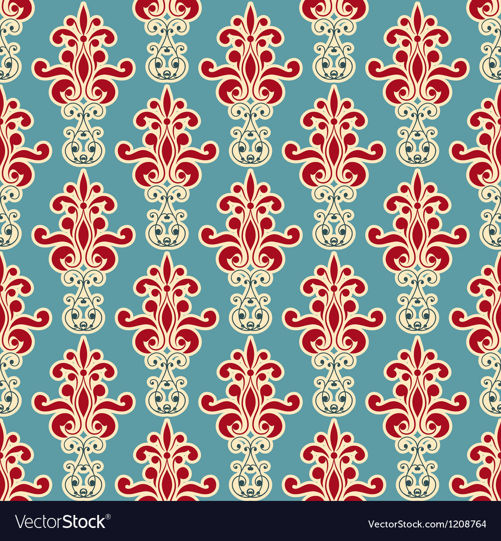 Seamless floral wallpaper pattern vector | Price: 3 Credit (USD $3)