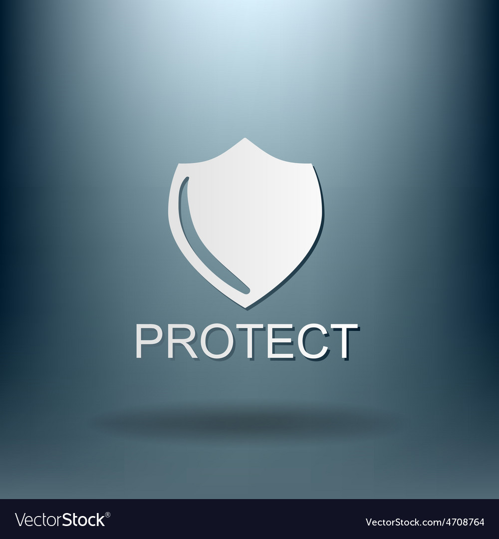 Shield a symbol of protection shield vector | Price: 1 Credit (USD $1)