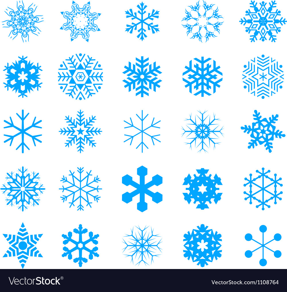 Snow crystal icon sets vector | Price: 1 Credit (USD $1)