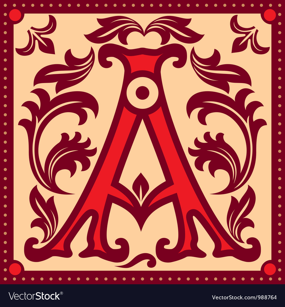 Vintage letter a vector | Price: 1 Credit (USD $1)