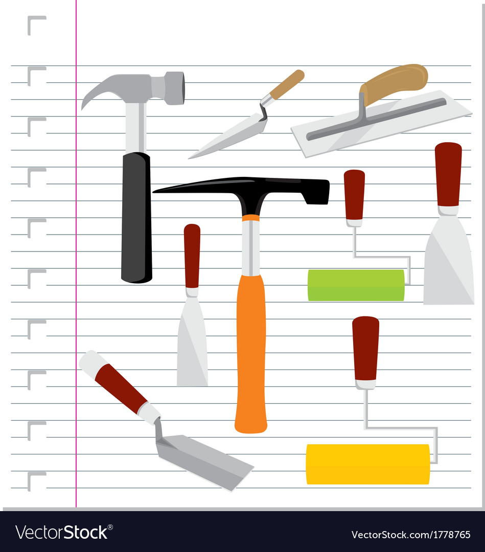 Building tools with on paper vector | Price: 1 Credit (USD $1)