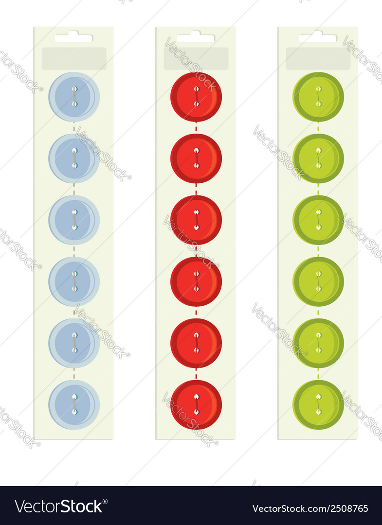 Buttons on packaging vector | Price: 1 Credit (USD $1)