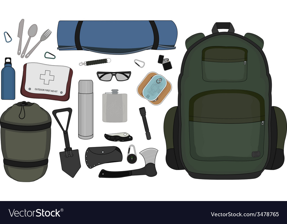 Camping set vector | Price: 1 Credit (USD $1)