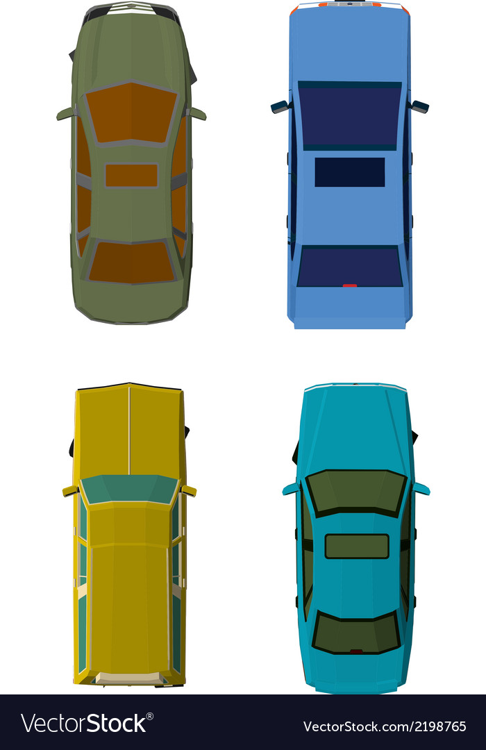 Cars top view vector | Price: 1 Credit (USD $1)