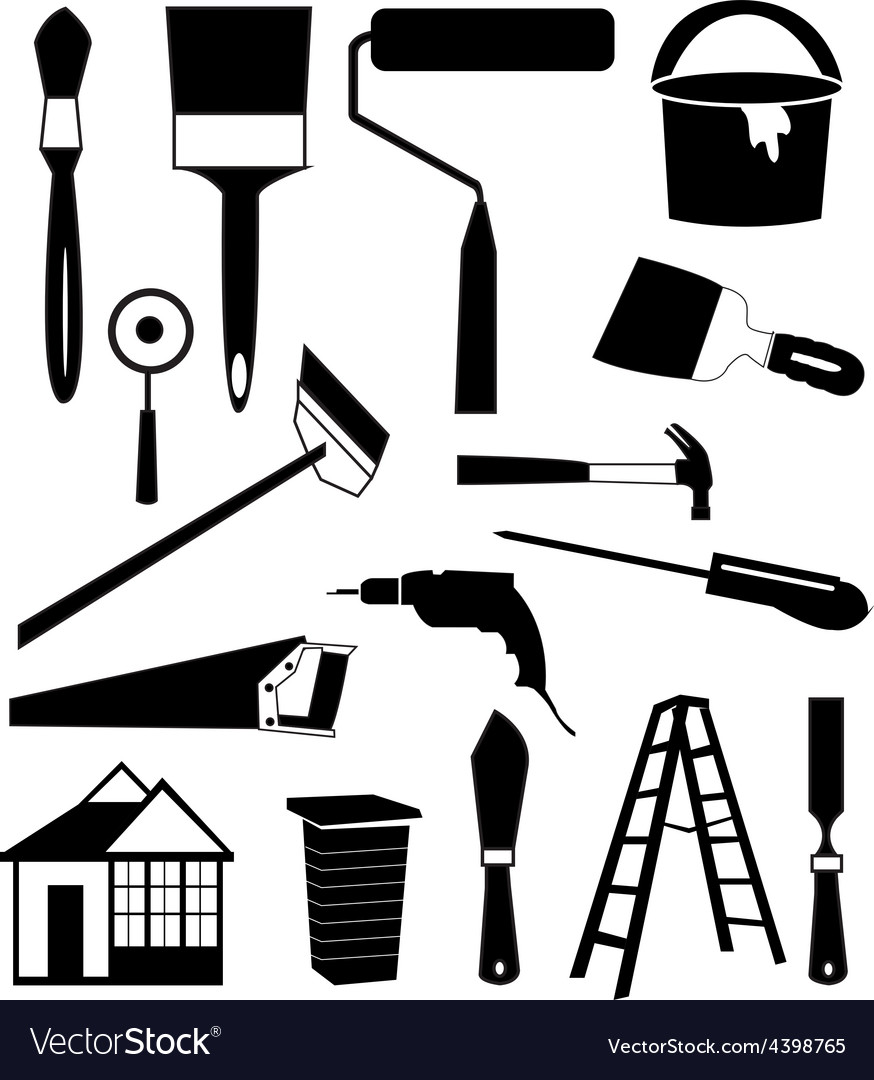 House repair tools icons set vector | Price: 3 Credit (USD $3)