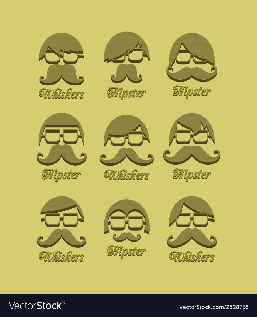 Moustache man vector | Price: 1 Credit (USD $1)