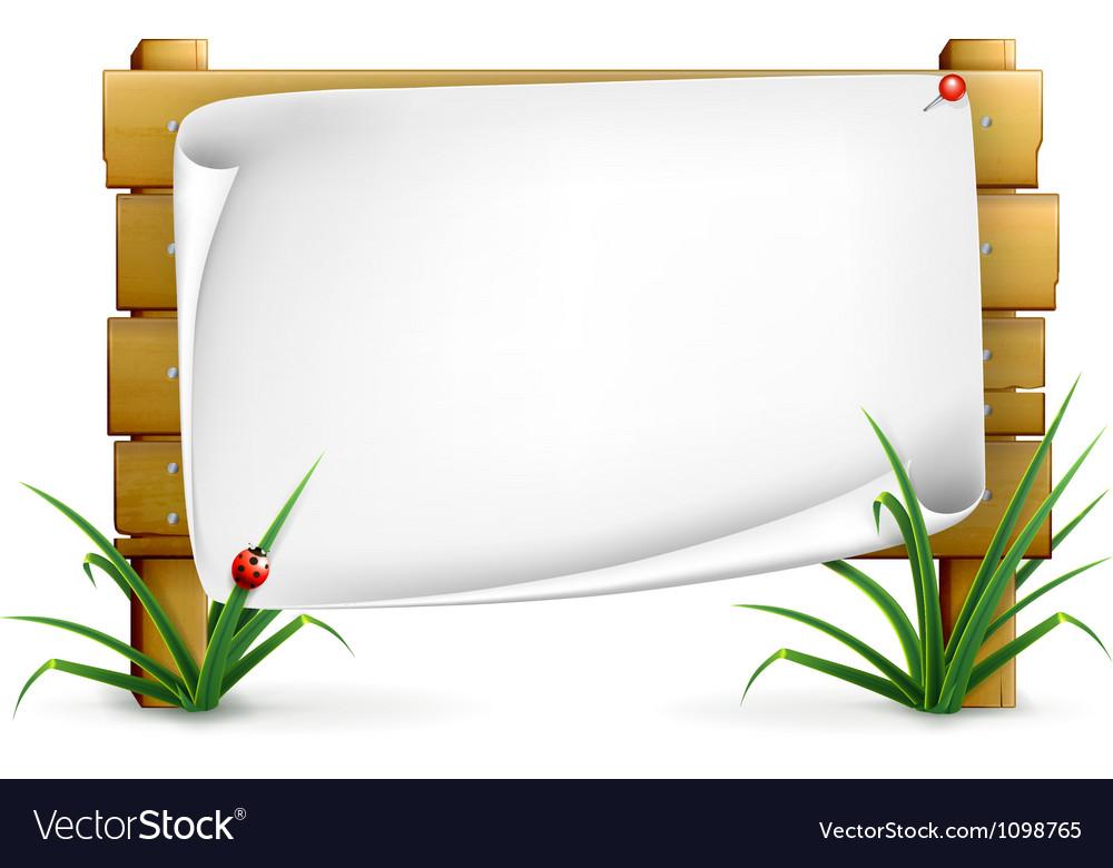 Notice board vector | Price: 1 Credit (USD $1)
