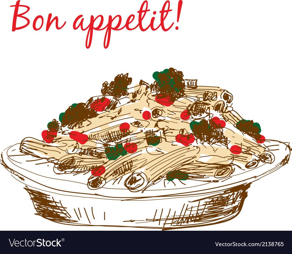 Pasta bon appetit vector | Price: 1 Credit (USD $1)