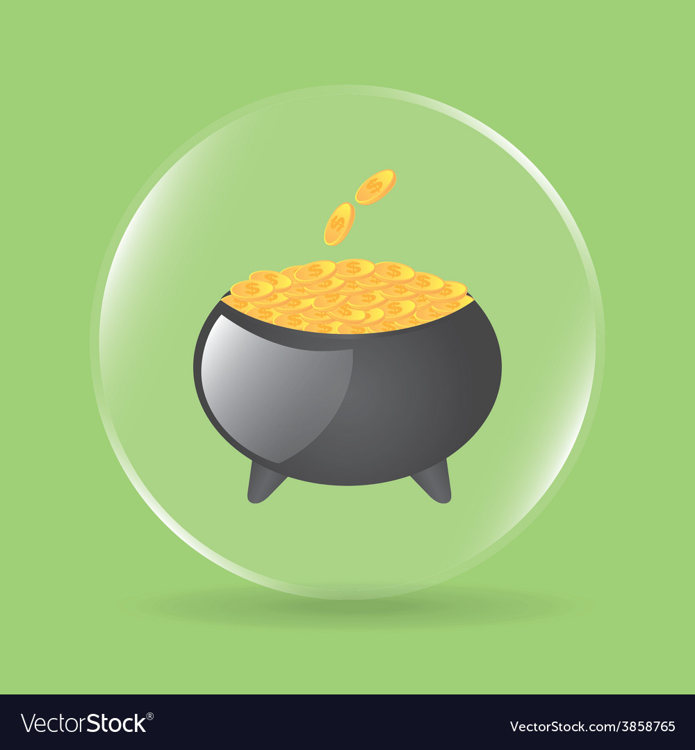 Pot gold vector | Price: 1 Credit (USD $1)