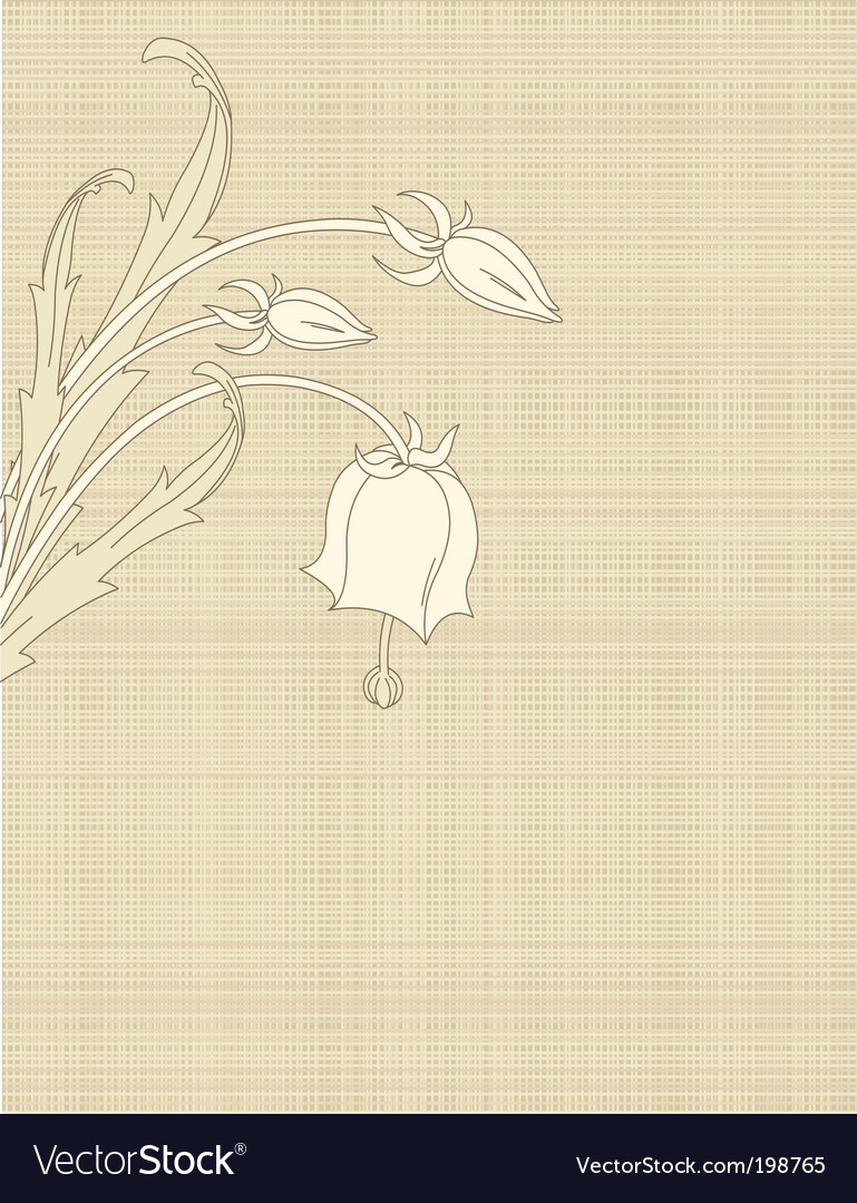 Retro flowers on canvas vector | Price: 1 Credit (USD $1)