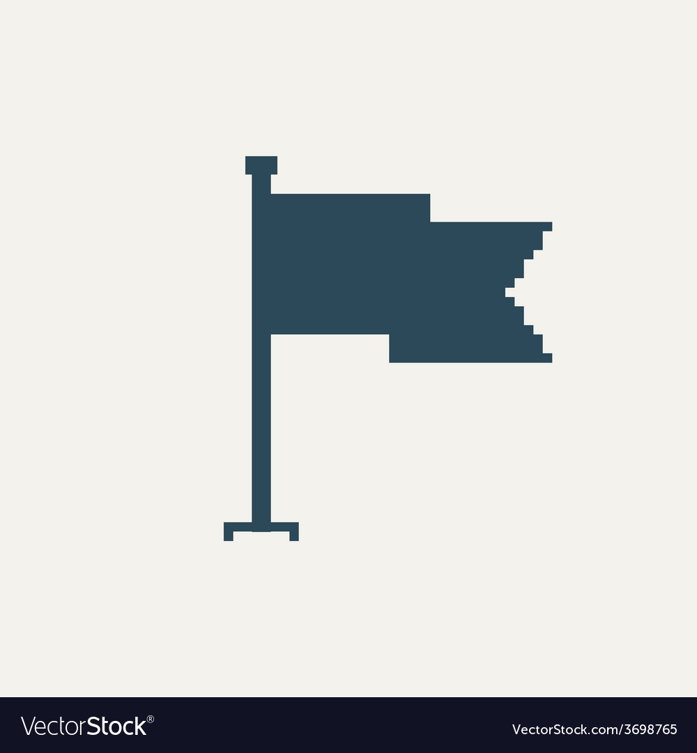 Simple stylish pixel icon flag design vector | Price: 1 Credit (USD $1)