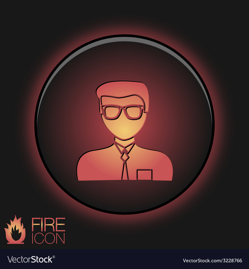 A male avatar picture a man round icon image guy vector | Price: 1 Credit (USD $1)