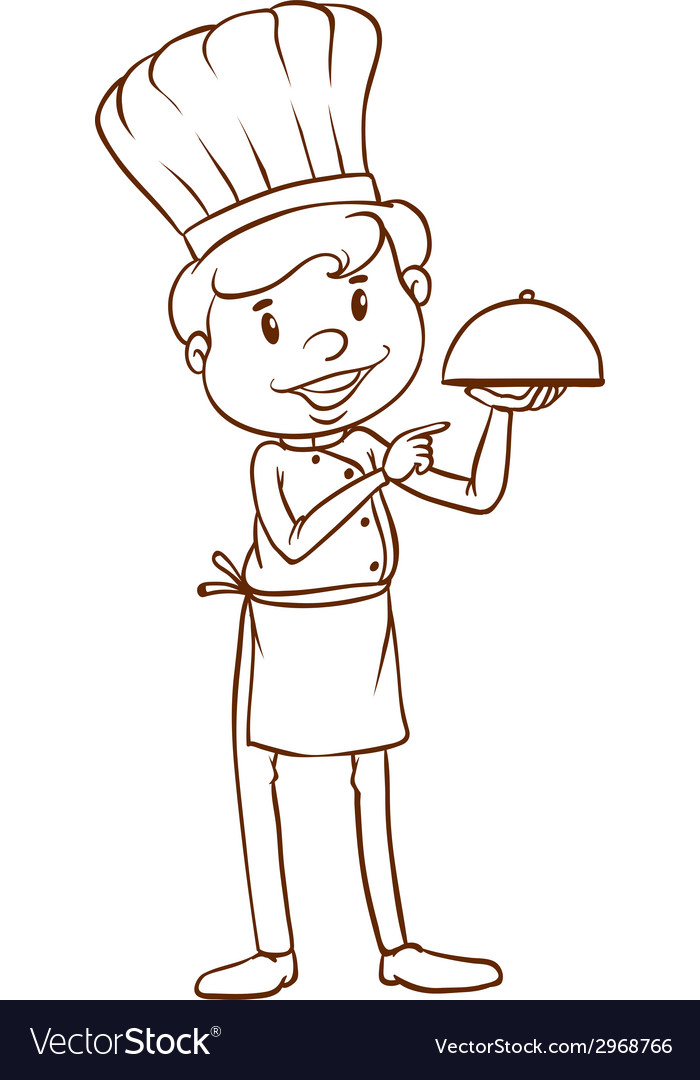 A simple sketch of a chef vector | Price: 1 Credit (USD $1)