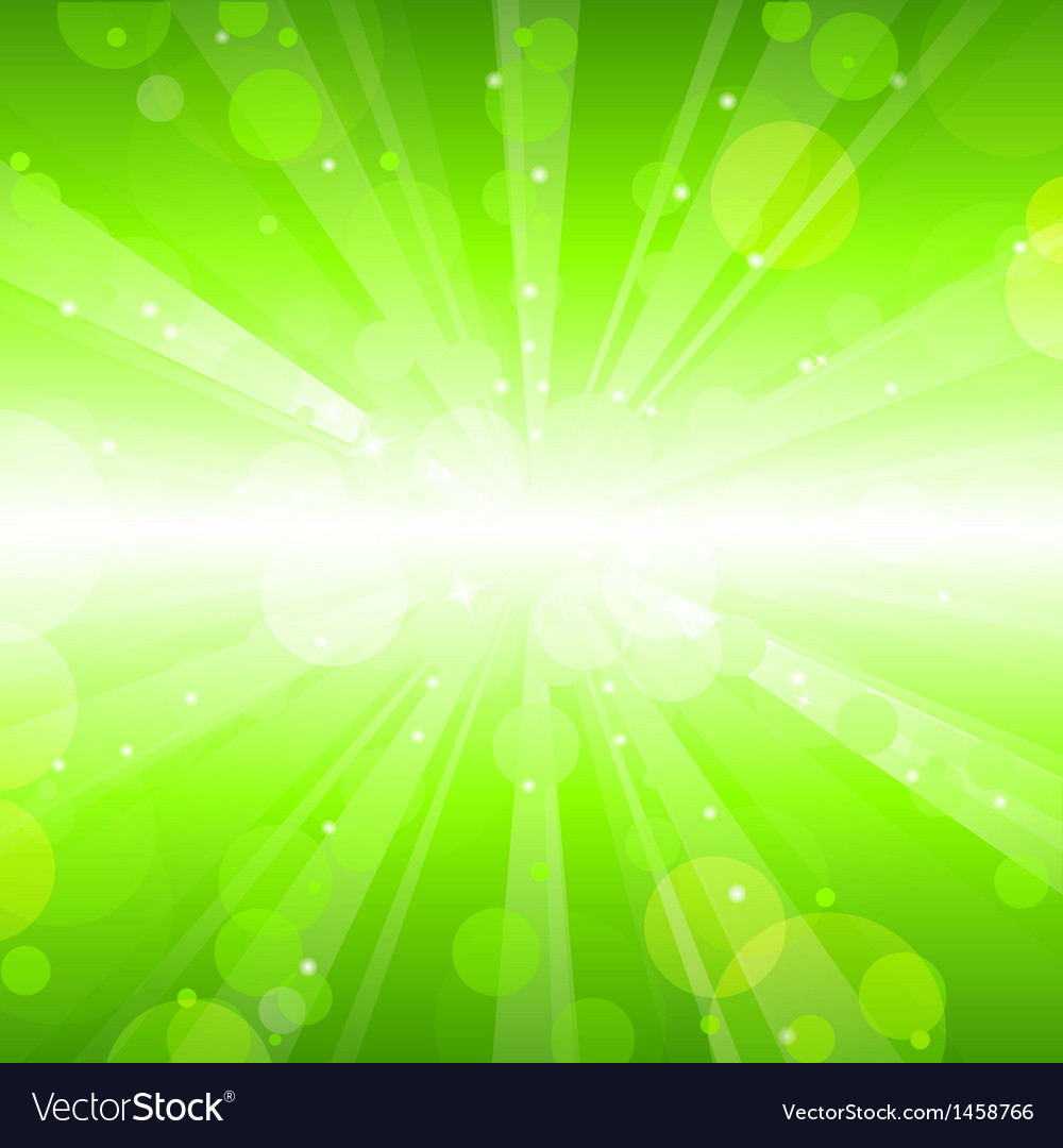 Abstract green lights background vector | Price: 1 Credit (USD $1)