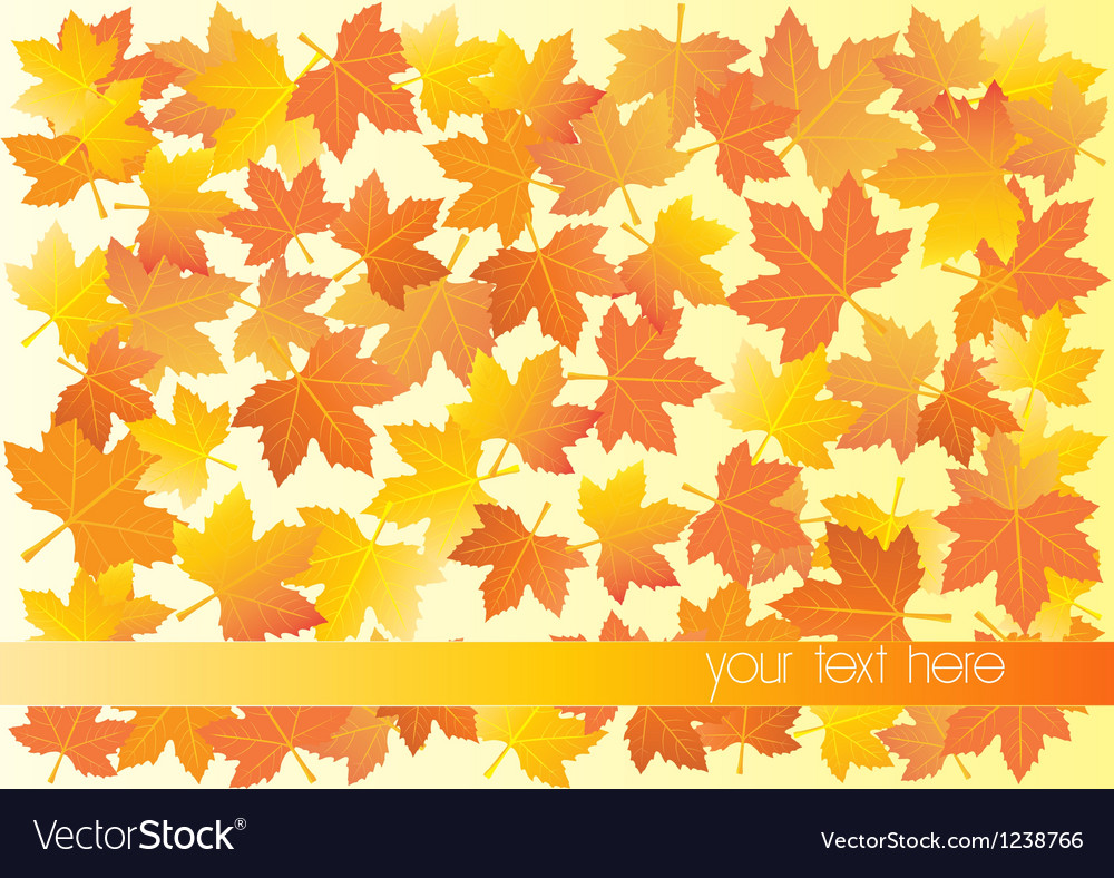 Autumn background with place for your text vector | Price: 1 Credit (USD $1)