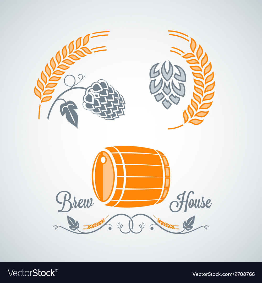 Beer set design labels vector | Price: 1 Credit (USD $1)