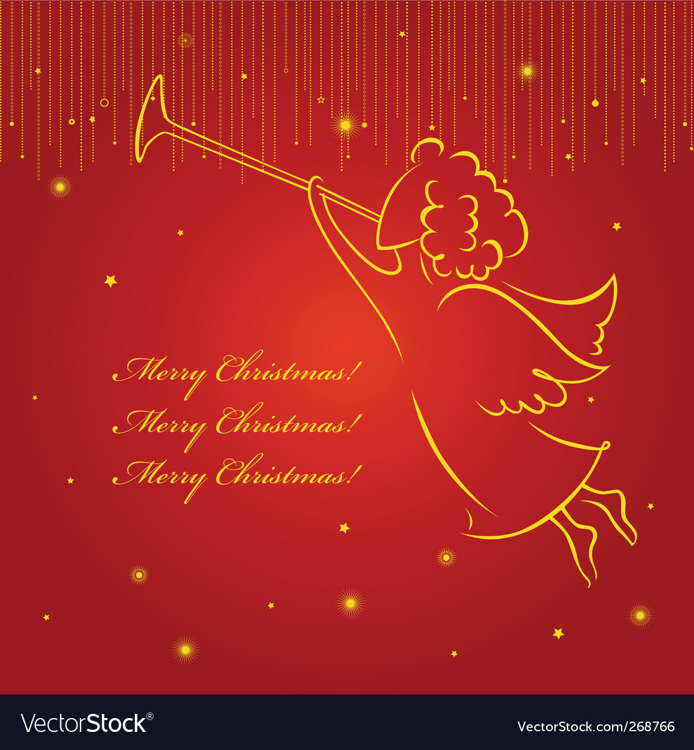 Christmas angel card vector | Price: 1 Credit (USD $1)