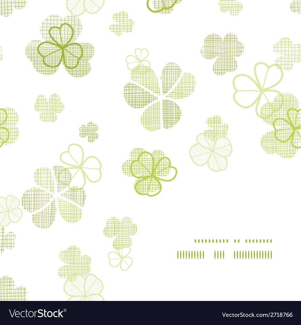 Clover textile textured line art frame corner vector | Price: 1 Credit (USD $1)