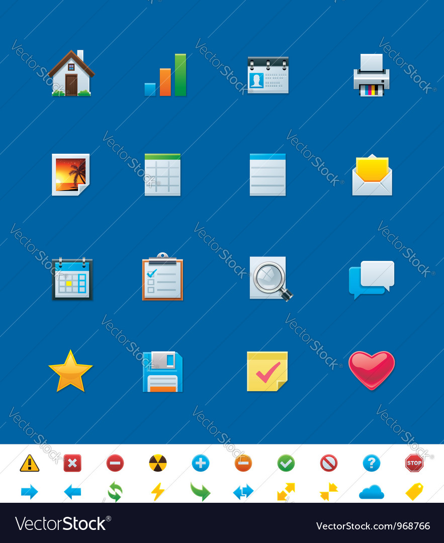 Common website icons for webmasters vector | Price: 3 Credit (USD $3)