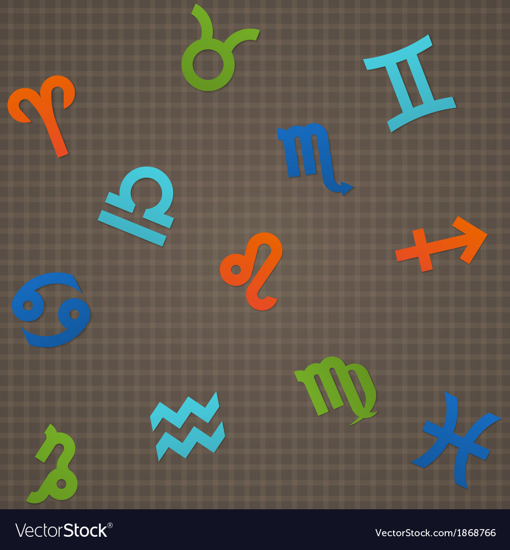 Dark seamless texture signs of the zodiac vector | Price: 1 Credit (USD $1)
