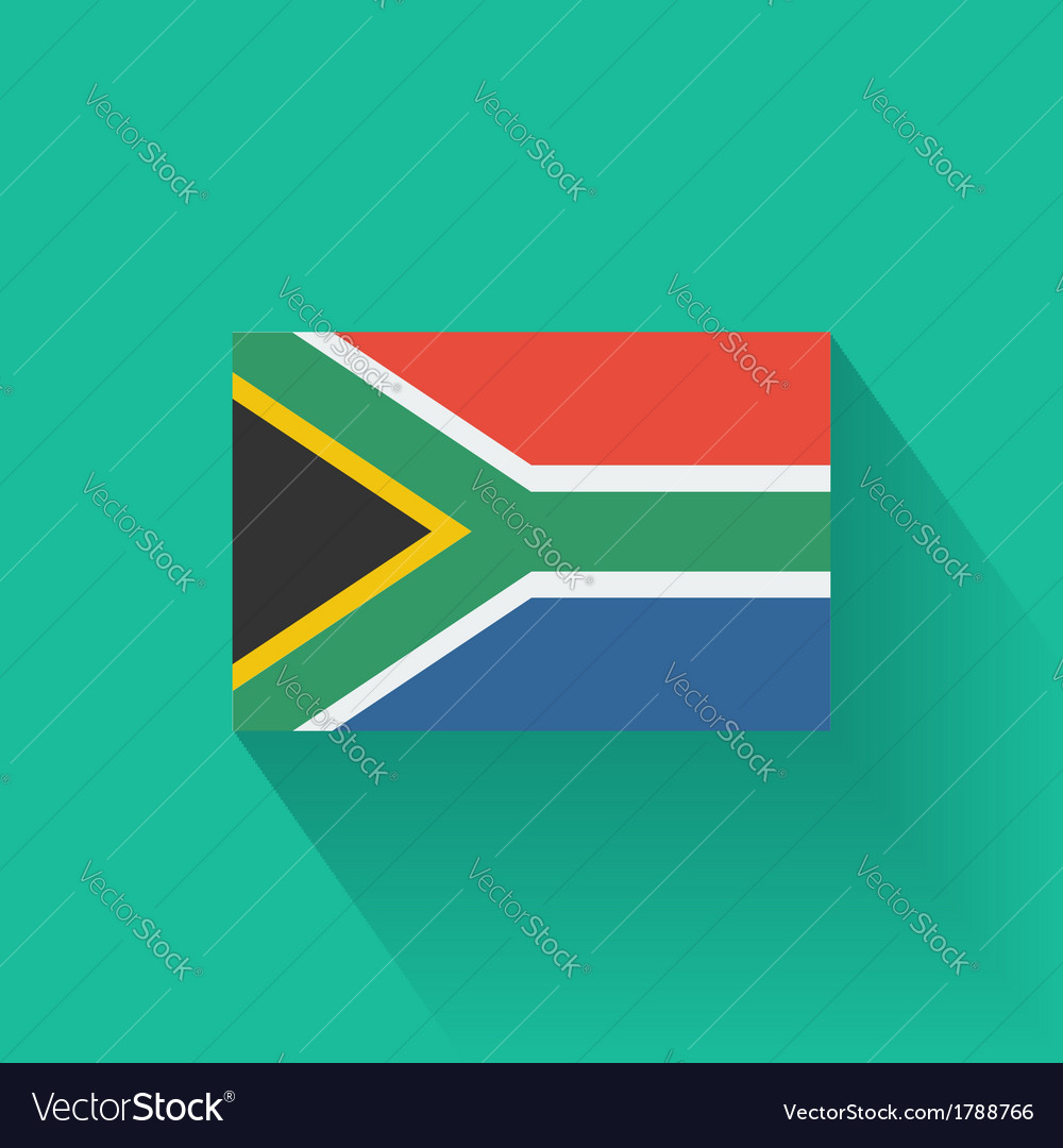 Flat flag of south africa vector | Price: 1 Credit (USD $1)