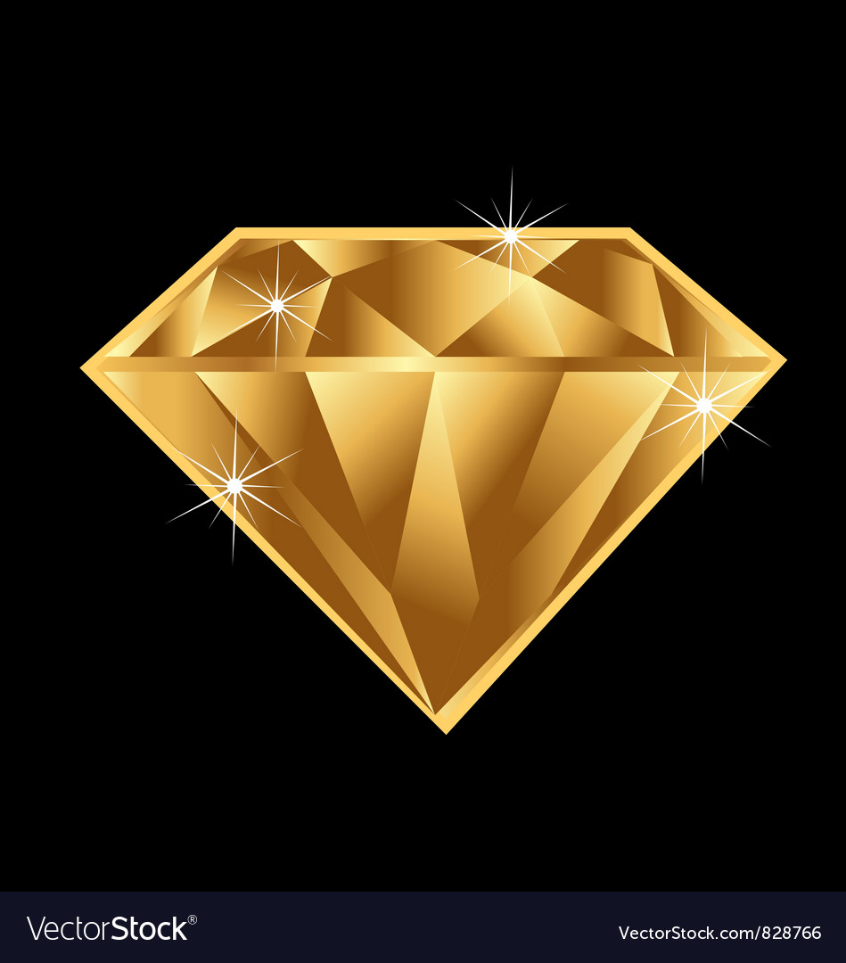 Gold diamond vector | Price: 1 Credit (USD $1)