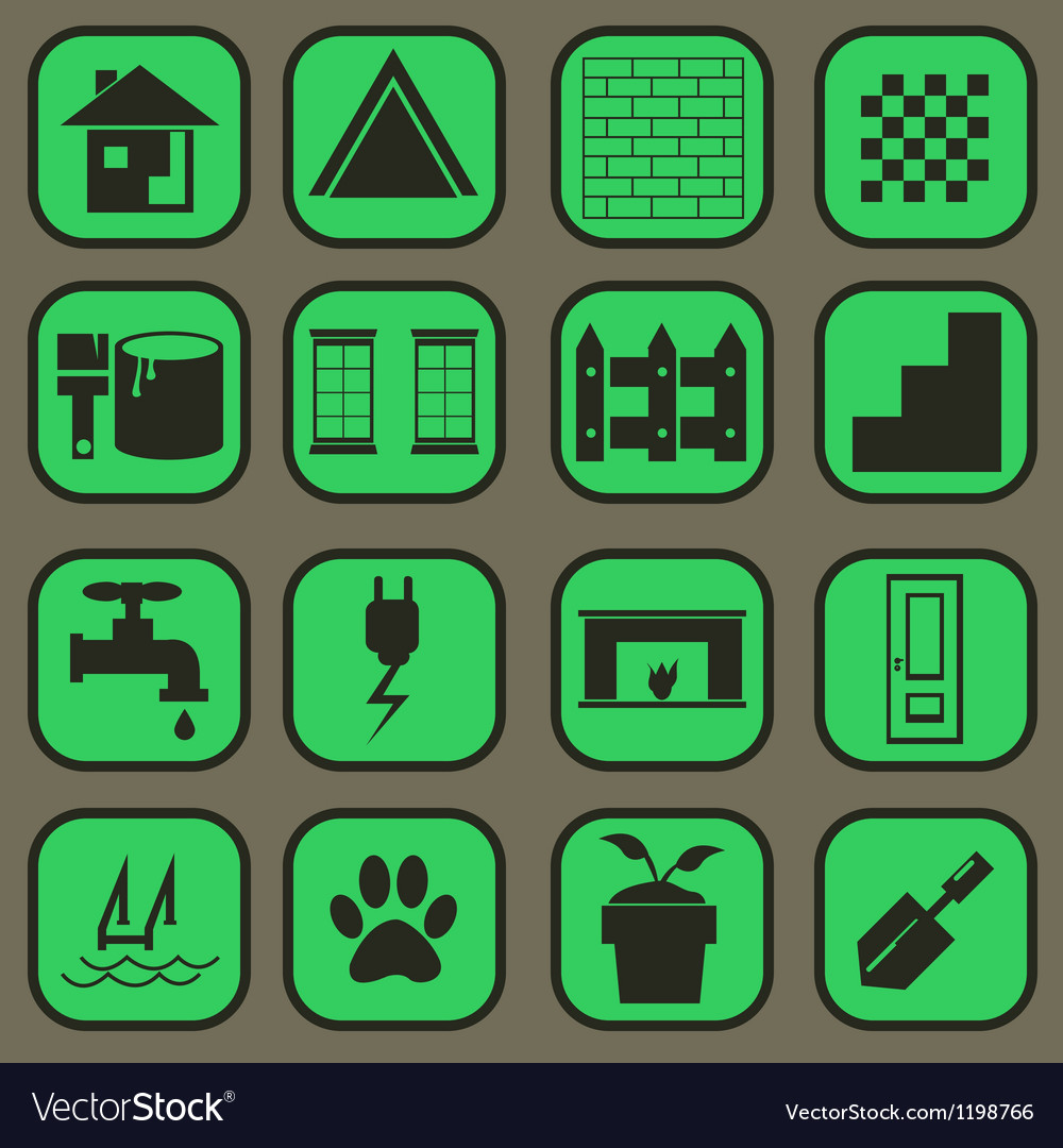 Home icon basic style vector | Price: 1 Credit (USD $1)