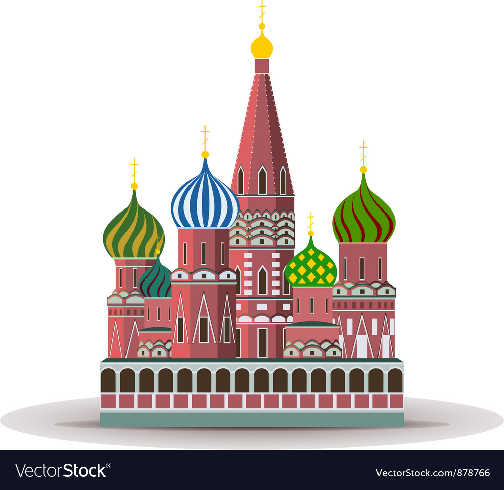 Kremlin st basil cathedral vector | Price: 1 Credit (USD $1)