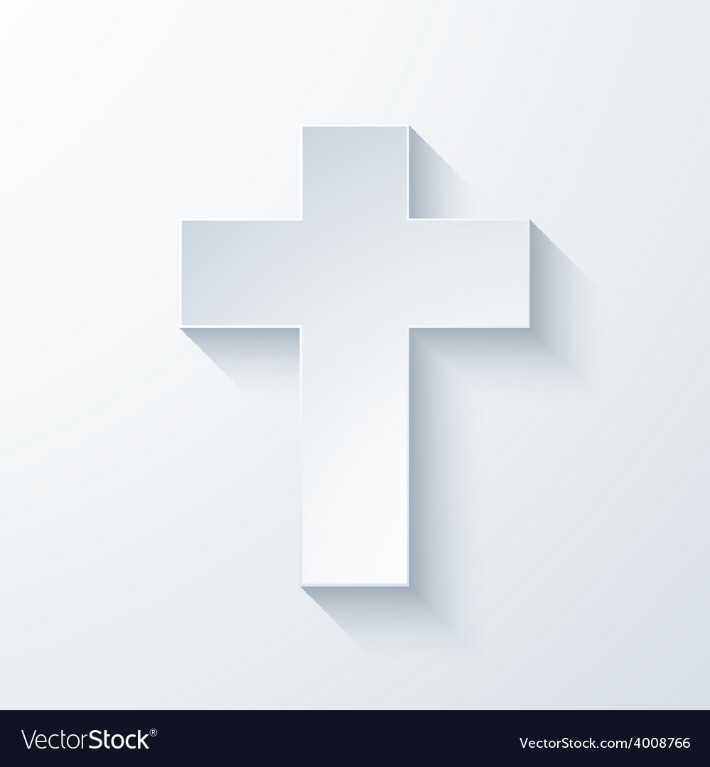 Modern religious cross icon vector | Price: 1 Credit (USD $1)