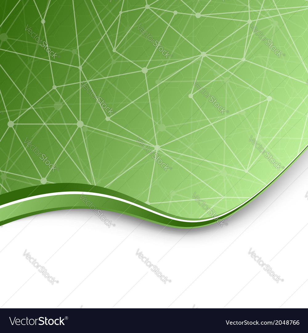 Molecular chemistry green background template vector | Price: 1 Credit (USD $1)