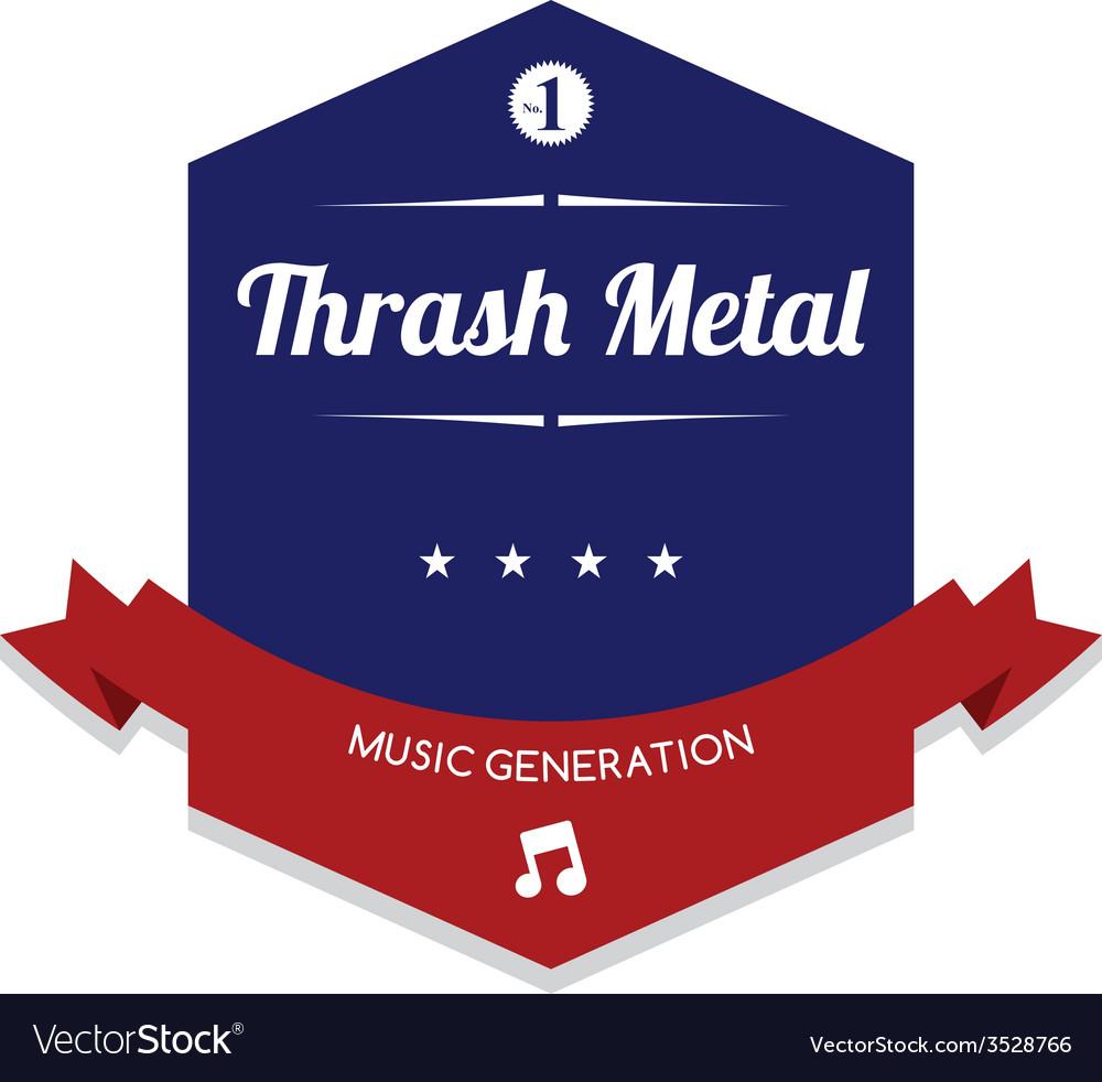 Music label sticker vector   Price: 1 Credit (USD $1)